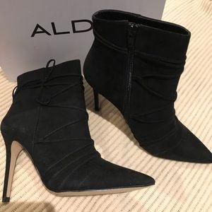 Aldo black suede booties
